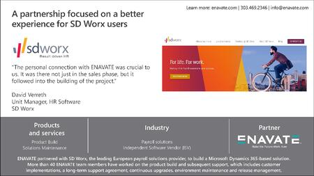 ENAVATE - SD Worx - Customer Snapshot