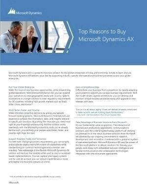 Top Reasons to Invest in Dynamics AX