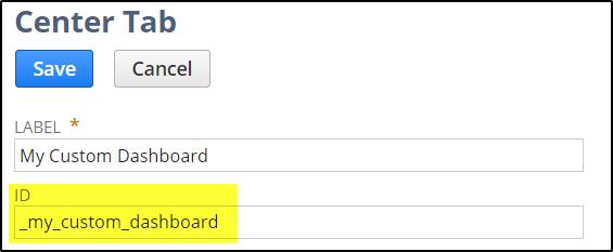 ID your custom tab