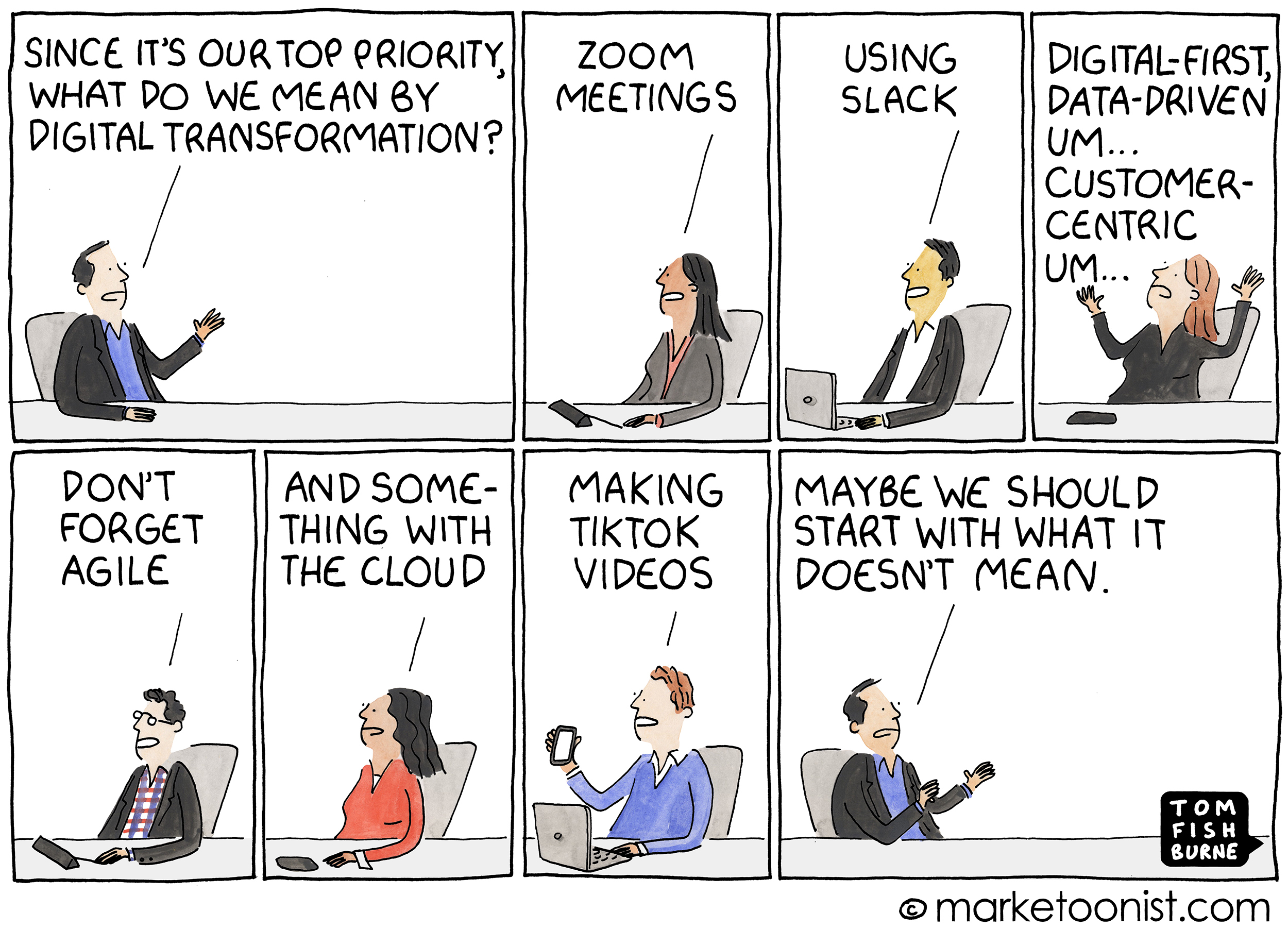 Marketoonist Digital Transformation without Clarity 3-21