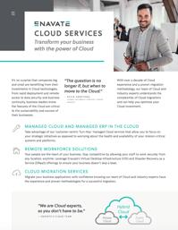Cloud Services info sheet