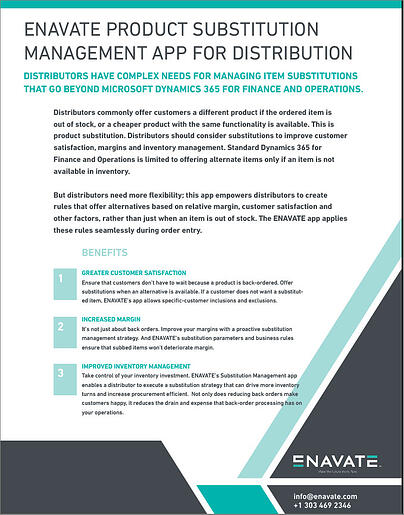 Enavate Product Substitution App for Wholesale Distribution - Datasheet