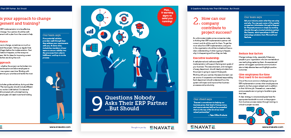 9 Questions Nobody Asks Their ERP Partner...But Should pages