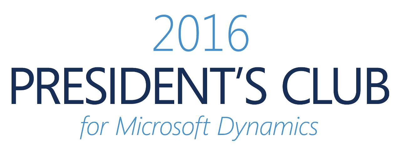 ENAVATE Has Been Named to 2016 President's Club for Microsoft Dynamics