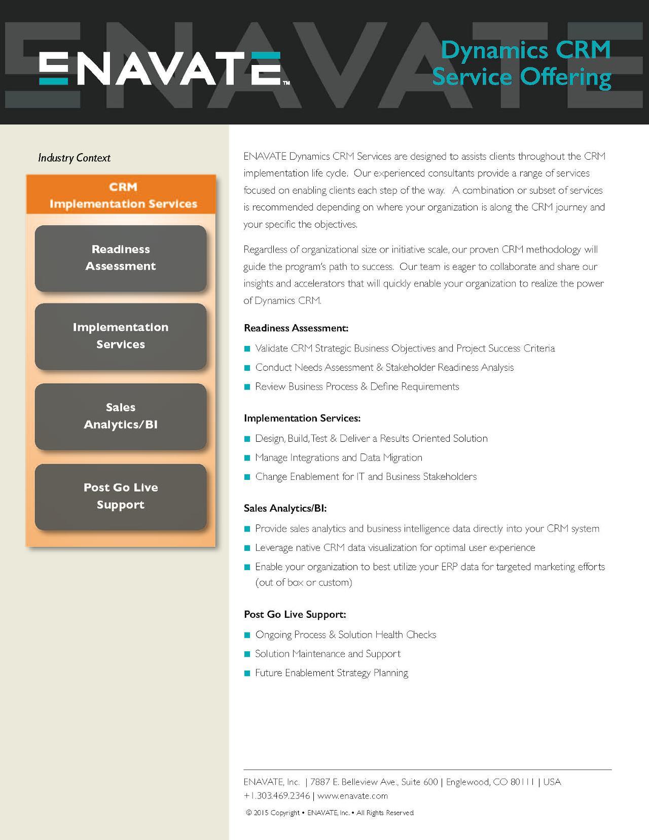 ENAVATE's CRM Implementation Services