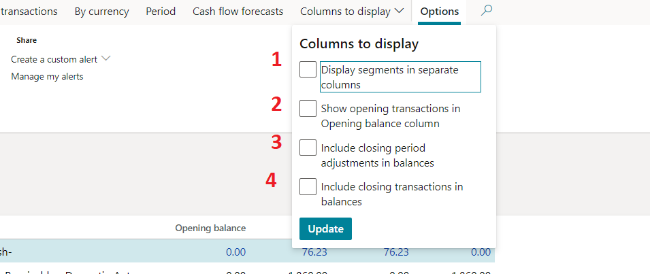 columns to adjust - fig 7